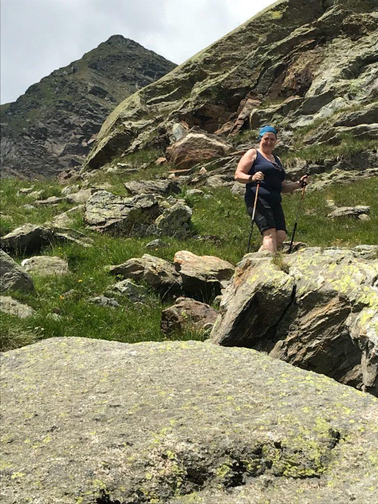 Ich beim Abstieg vom Grünsee zur Oberkaseralm - Tirol - Südtirol