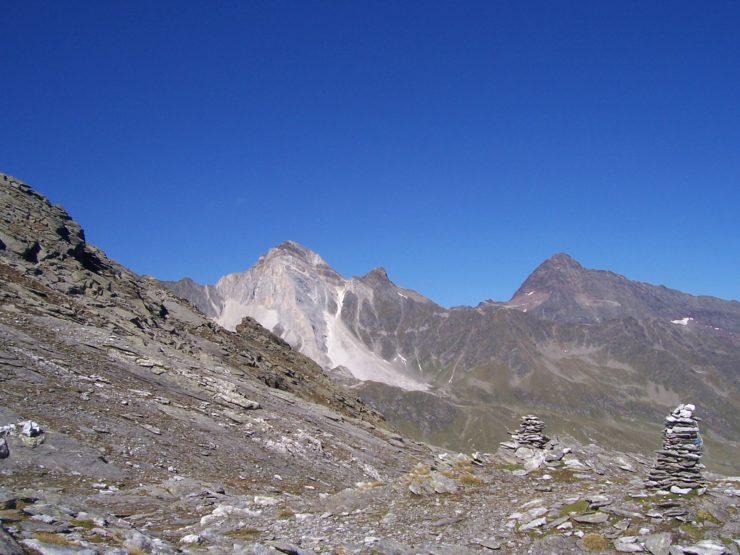 Hohe Weiße und Hohe Wilde (3.408m), Spronserjoch (2580m)