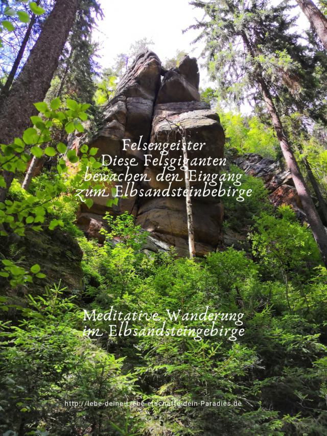 Diese Felsengeister bewachen den Eingang des Elbsandsteingebirges